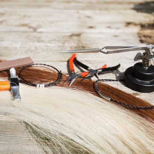 The Horsehair bracelets tools of the trade!
